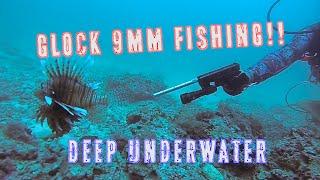 Glock-Fishing Underwater | 9mm Handgun Shooting Lionfish |Episode 1