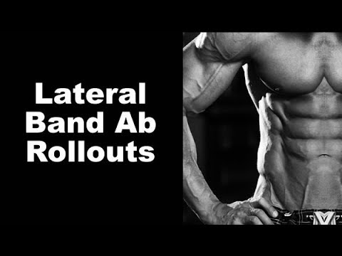 Six-Pack Abs and Deep Core Work with Lateral Band Ab Rollouts