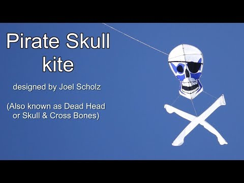 Pirate Skull kite - another video from the past as our weather remains terrible