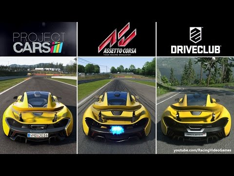 Assetto Corsa vs. Project CARS vs. DriveClub   PS4 Graphics & Sound Comparison Gameplay