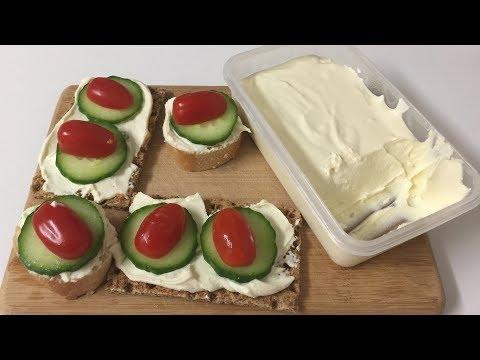 Easy Cream Cheese-تحضير جبنة للدهن ب ٥ دقائق فقط