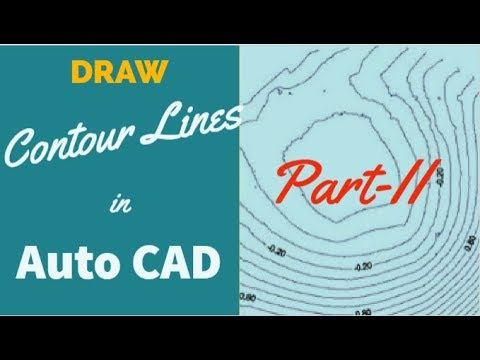 SW-DTM: How To Draw Contour Lines in AutoCAD Part_2