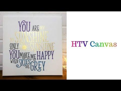 HTV Canvas with Cricut Easy Press