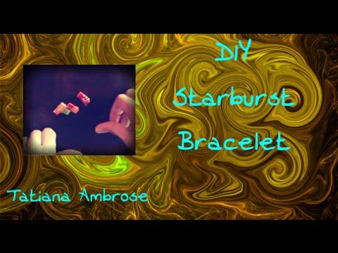 Close up: Make a Starburst Bracelet 2 Craft Tutorial with Starburst Wrappers