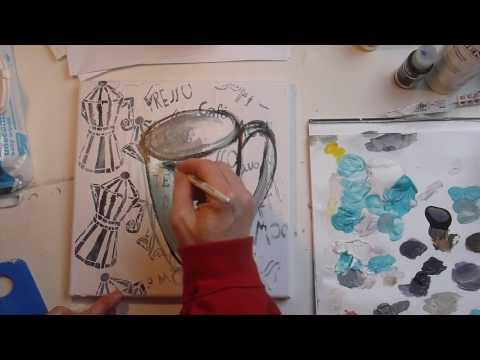 How to Create Coffee Inspired Pop Art - Creative Team Thursday Denise Alloca