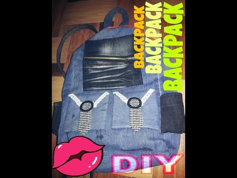 How to make BACKPACK from old denim | PART1|