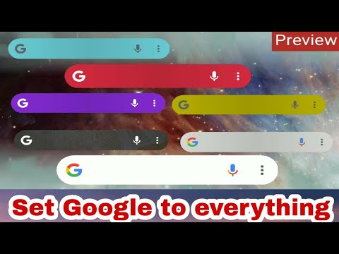 Set Google Bar To Any Colour, Shape, Transparency, Size