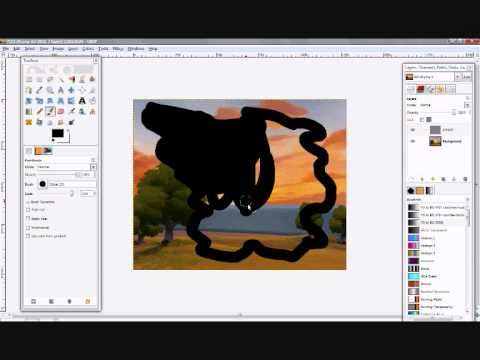 GIMP - add border to picture