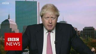 Boris Johnson: Triggering Article 50
