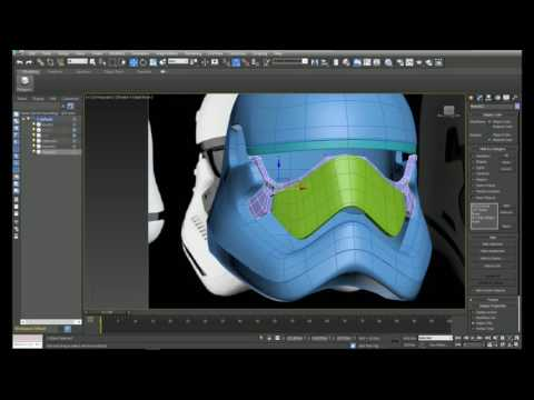 3ds max tutorial: Modeling a Stormtrooper helmet ( New Order) Part 2 of 2