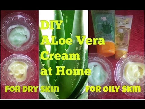 DIY ALOE VERA CREAM at HOME for DRY and OILY SKIN, AFFORDABLE HOMEMADE CREAM USE, BENEFITS in HINDI