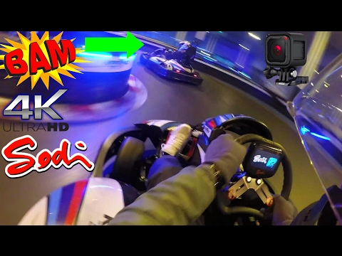 Super Fast Electric Race Kart Sodi RTX-8'17 100% Boost Indoor Fight Crash GoPro5