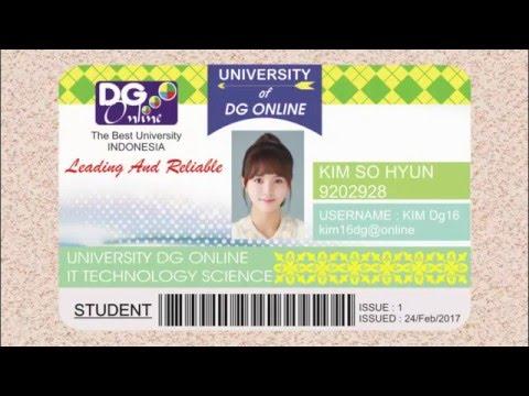 Make A Design ID CARD KIM SO HYUN In CorelDRAW