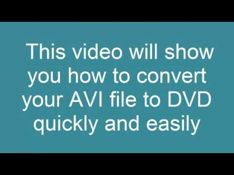How to convert AVI to DVD and Play it on a DVD Player