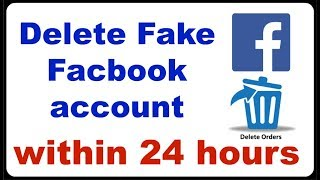 EASILY DELETE FACEBOOK FAKE ACCOUNT ID OF YOUR NAME  MUST WATCH