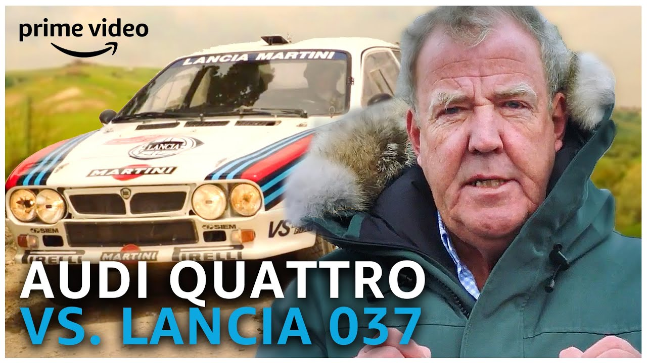 Clarkson z'n Favoriete Rally Battle: 1983 Audi Quattro VS. Lancia 037 | Amazon Prime Video NL