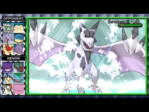 Mega Aerodactyl Fake vs Real Imposter! (Pokemon X and Y Wifi Battle) #12 Xenon3120 vs E-Fly