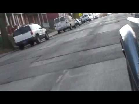 A bumpy drive on Orange Street in Lancaster, PA