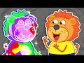 Lion Family | Journey to the Center of the Earth №13. Rainbow Game | Cartoon for Kids