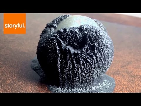 Magnetic Putty Reacts To Strong Magnet (Storyful, Crazy)