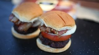 How To Grill Bacon Steak Burgers
