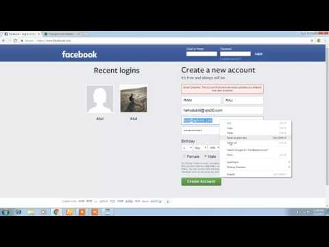 how to create fb account without having mobile number or email
