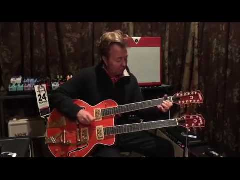 Brian Setzer sampling a 12-String Guitar At Chicago Music Exchange