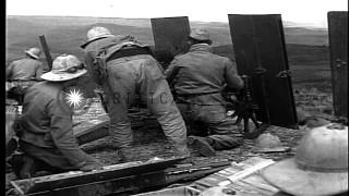 Italian troops during a battle of the Second Italo-Abyssinian War HD Stock Footage