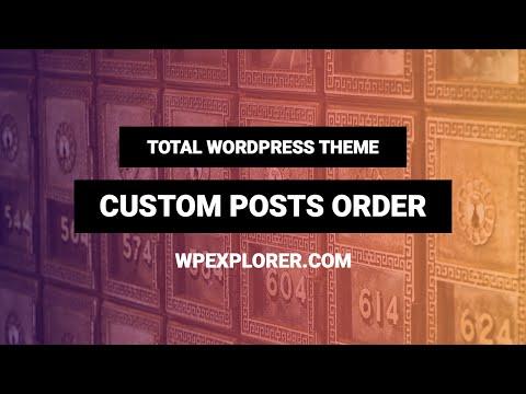 How to Re-order Posts in WordPress | Custom Order