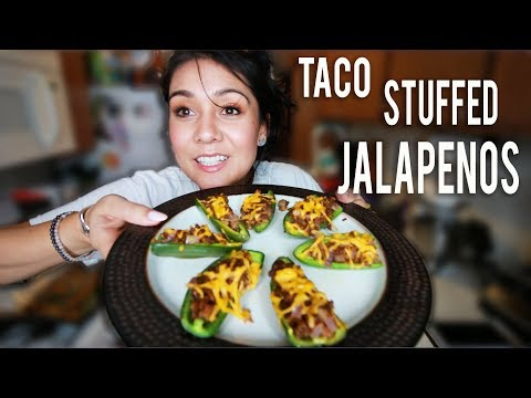 TACO STUFFED JALAPENOS 🌮 | Tasty Tuesday