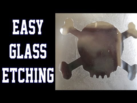 How to Etch Glass - Chemical use, 18+ Only