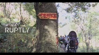 Italy: Protesters rally at French-Italian border in solidarity with refugees
