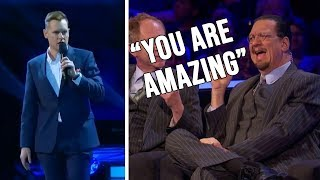 Mentalist Magician STUNS Penn & Teller With Impossible MIND READING Magic Trick!