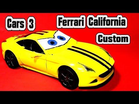 Pixar Cars 3 Ferrari California Custom Paint Kit Car for Kids with Miss Fritter Lightning McQueen