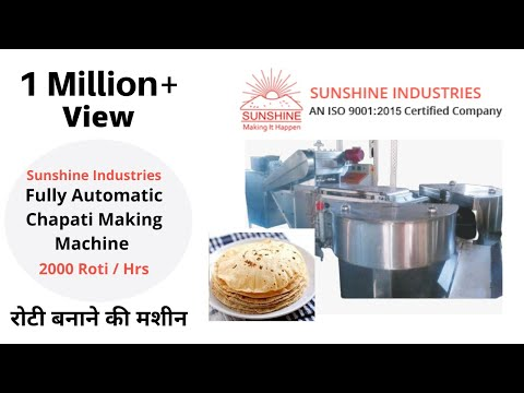 Fully Automatic Chapati Making Machine (2000 Chapatis / Hr)