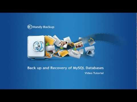 Backup and Recovery of MySQL Databases (Video Tutorial)