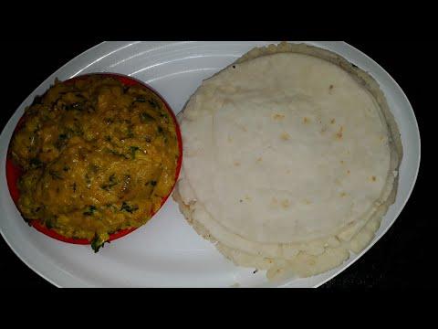 Zunka bhakar or  besan curry and chawal ki roti  Marathi recipes