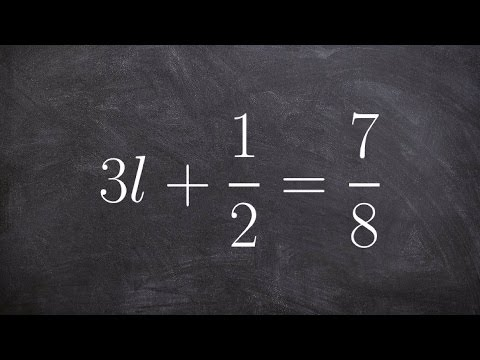 Solving a two step equation with fractions on both sides