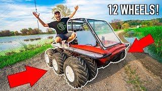 I Bought a HOMEMADE 12 WHEEL ATV for My FARM!!!! (It Floats!)
