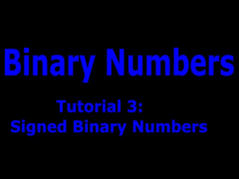 Binary Numbers Part: 3 Adding and Subtracting Binary Numbers. Signed 1's Complement & 2's Complement