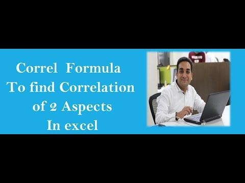 Correl Formula in Excel 2007 Hindi