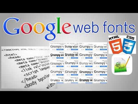 Google Web Fonts Tutorial (link to Google fonts)