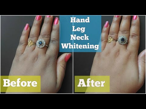 WHITEN HANDS, LEGS & NECK IN MINUTES AT HOME IN HINDI   FAIR SKIN MIRACLE FORMULA (LIVE)
