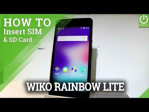 How to Insert SIM & SD WIKO Rainbow Lite - Micro SIM & SD Slot