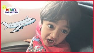 Family Fun Vacation! Kid React Airplane Trip to NYC Hotel Tour! Ryan