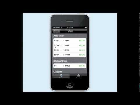 Best Dollar to Rupee Exchange Rates iPhone App - Rupya