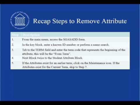 Remove Attribute sd 103115