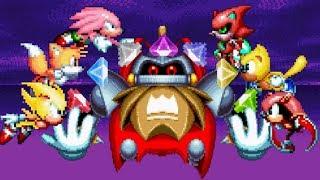 Sonic Mania Plus - All Super Characters Vs Secret Final Boss