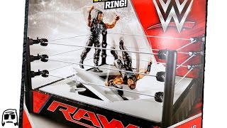WWE RAW BREAKABLE Ring Mattel Toy Playset Unboxing, Construction & Review!!