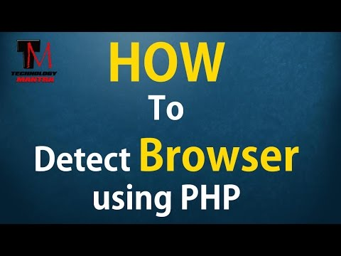 How to detect web browser using PHP (Browser specific coding)